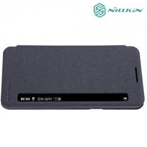 Nillkin с умным окном чехол книжка для LG X Power K220DS - Sparkle Case Серый