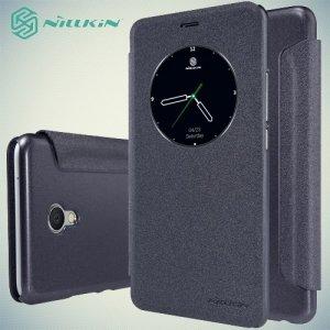 Nillkin с умным окном чехол книжка для Meizu M3E - Sparkle Case Серый