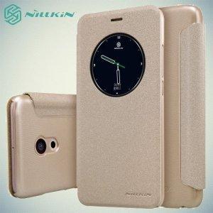 Nillkin с окном чехол книжка для Meizu Pro 6 - Sparkle Case Золотой