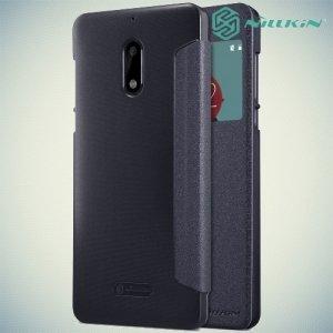 Nillkin с окном чехол книжка для Nokia 6 - Sparkle Case Серый