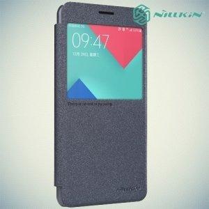 Nillkin с окном чехол книжка для Samsung Galaxy A5 2016 SM-A510F - Sparkle Case Серый
