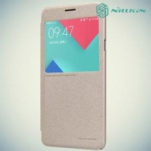 Nillkin с окном чехол книжка для Samsung Galaxy A5 2016 SM-A510F - Sparkle Case Золотой