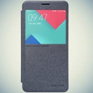 Nillkin с окном чехол книжка для Samsung Galaxy A7 2016 SM-A710F - Sparkle Case Серый
