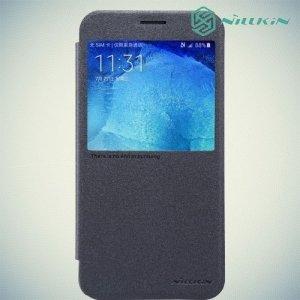 Nillkin с умным окном чехол книжка для Samsung Galaxy A8 - Sparkle Case Черный