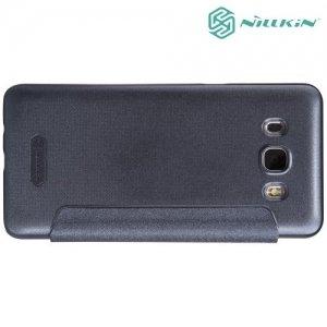 Nillkin с окном чехол книжка для Samsung Galaxy J5 2016 SM-J510 - Sparkle Case Серый