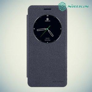 Nillkin с умным окном чехол книжка для Samsung Galaxy Note 7 - Sparkle Case Серый