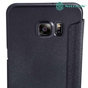 Nillkin с умным окном чехол книжка для Samsung Galaxy S6 Edge+ - Sparkle Case Черный