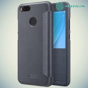 Nillkin с умным окном чехол книжка для Xiaomi Mi 5x / Mi A1 - Sparkle Case Серый