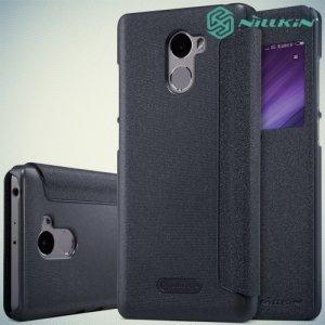Nillkin с окном чехол книжка для Xiaomi Redmi 4 - Sparkle Case Серый