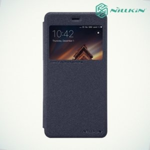 Nillkin с окном чехол книжка для Xiaomi Redmi 4A - Sparkle Case Серый