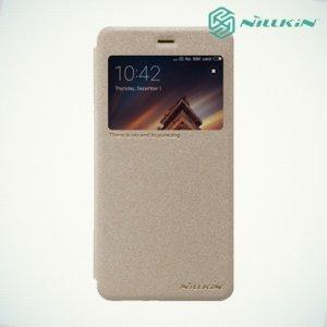 Nillkin с окном чехол книжка для Xiaomi Redmi 4A - Sparkle Case Золотой