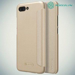 Nillkin Sparkle флип чехол книжка для Huawei Honor 10 - Золотой