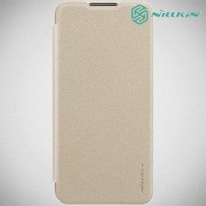 Nillkin Sparkle флип чехол книжка для Huawei P30 Lite - Золотой