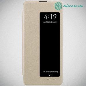 Nillkin Sparkle флип чехол книжка для Huawei P30 Pro - Золотой