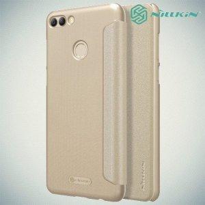 Nillkin Sparkle флип чехол книжка для Huawei Y9 2018 - Золотой