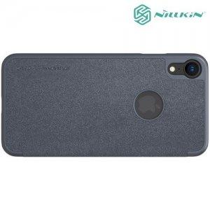 Nillkin Sparkle флип чехол книжка для iPhone XR - Серый