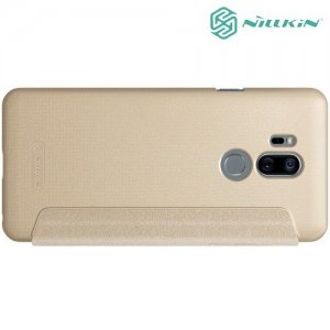 Nillkin Sparkle флип чехол книжка для LG G7 ThinQ - Золотой