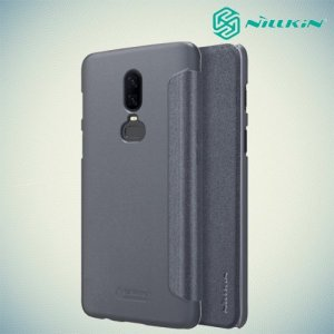 Nillkin Sparkle флип чехол книжка для OnePlus 6 - Серый
