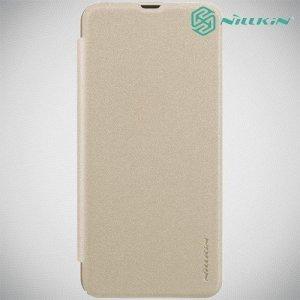 Nillkin Sparkle флип чехол книжка для Samsung Galaxy A30 / A20 - Золотой