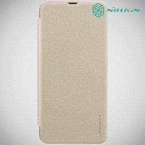 Nillkin Sparkle флип чехол книжка для Samsung Galaxy A50 / A30s - Золотой