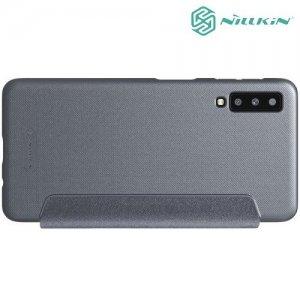 Nillkin Sparkle флип чехол книжка для Samsung Galaxy A7 2018 SM-A750F - Серый