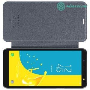 Nillkin Sparkle флип чехол книжка для Samsung Galaxy J6 2018 SM-J600F - Серый
