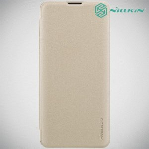 Nillkin Sparkle флип чехол книжка для Samsung Galaxy S10 Plus - Золотой