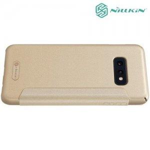 Nillkin Sparkle флип чехол книжка для Samsung Galaxy S10e - Золотой