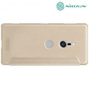 Nillkin Sparkle флип чехол книжка для Sony Xperia XZ2 - Золотой