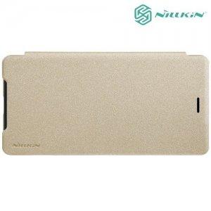 Nillkin Sparkle флип чехол книжка для Sony Xperia XZ2 Compact - Золотой