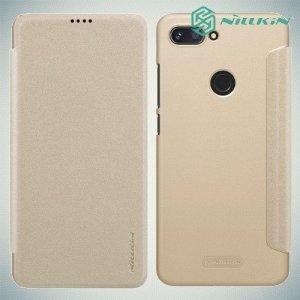 Nillkin Sparkle флип чехол книжка для Xiaomi Mi 8 Lite - Золотой