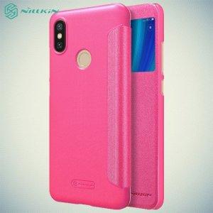 Nillkin Sparkle флип чехол книжка для Xiaomi Mi 6x / Mi A2 - Розовый
