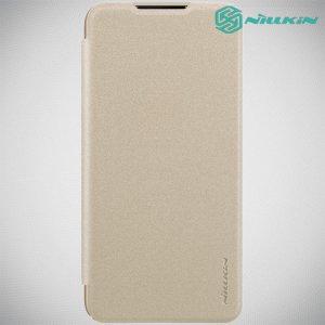 Nillkin Sparkle флип чехол книжка для Xiaomi Mi 9 lite - Золотой