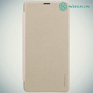 Nillkin Sparkle флип чехол книжка для Xiaomi Mi Max 3 - Золотой