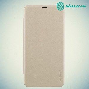 Nillkin Sparkle флип чехол книжка для Xiaomi Pocophone F1 - Золотой