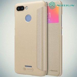 Nillkin Sparkle флип чехол книжка для Xiaomi Redmi 6 - Золотой