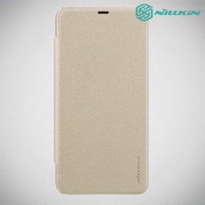 Nillkin Sparkle флип чехол книжка для Xiaomi Redmi Note 8 Pro - Золотой