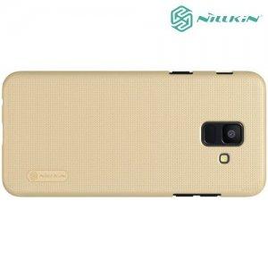 NILLKIN Super Frosted Shield Клип кейс накладка для Samsung Galaxy A6 2018 SM-A600F - Золотой