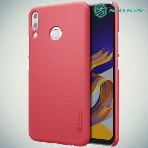 NILLKIN Super Frosted Shield Клип кейс накладка для Asus Zenfone Max Pro M2 ZB631KL - Красный