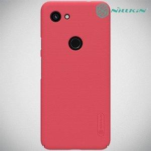 NILLKIN Super Frosted Shield Клип кейс накладка для Google Pixel 3a - Красный
