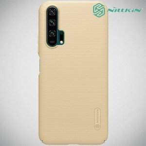 NILLKIN Super Frosted Shield Клип кейс накладка для Huawei Honor 20 Pro - Золотой