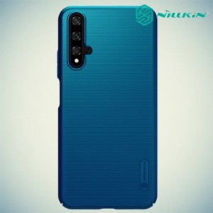 NILLKIN Super Frosted Shield Клип кейс накладка для Huawei Honor 20 - Синий