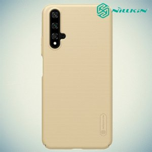 NILLKIN Super Frosted Shield Клип кейс накладка для Huawei Nova 5T - Золотой