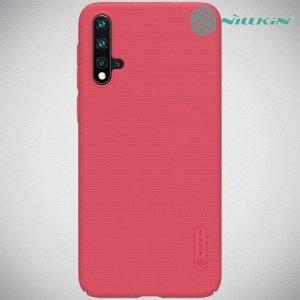 NILLKIN Super Frosted Shield Клип кейс накладка для Huawei nova 5 - Красный