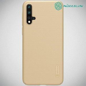 NILLKIN Super Frosted Shield Клип кейс накладка для Huawei nova 5 - Золотой