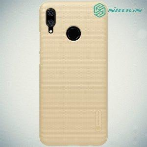 NILLKIN Super Frosted Shield Клип кейс накладка для Huawei P smart+ / Nova 3i - Золотой