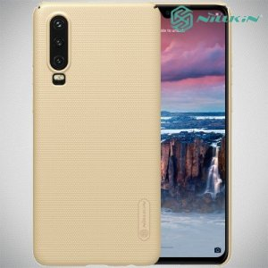 NILLKIN Super Frosted Shield Клип кейс накладка для Huawei P30 - Золотой