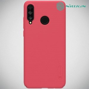 NILLKIN Super Frosted Shield Клип кейс накладка для Huawei P30 Lite - Красный