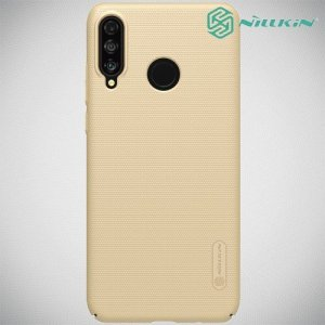 NILLKIN Super Frosted Shield Клип кейс накладка для Huawei P30 Lite - Золотой