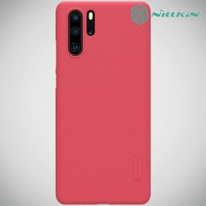 NILLKIN Super Frosted Shield Клип кейс накладка для Huawei P30 Pro - Красный